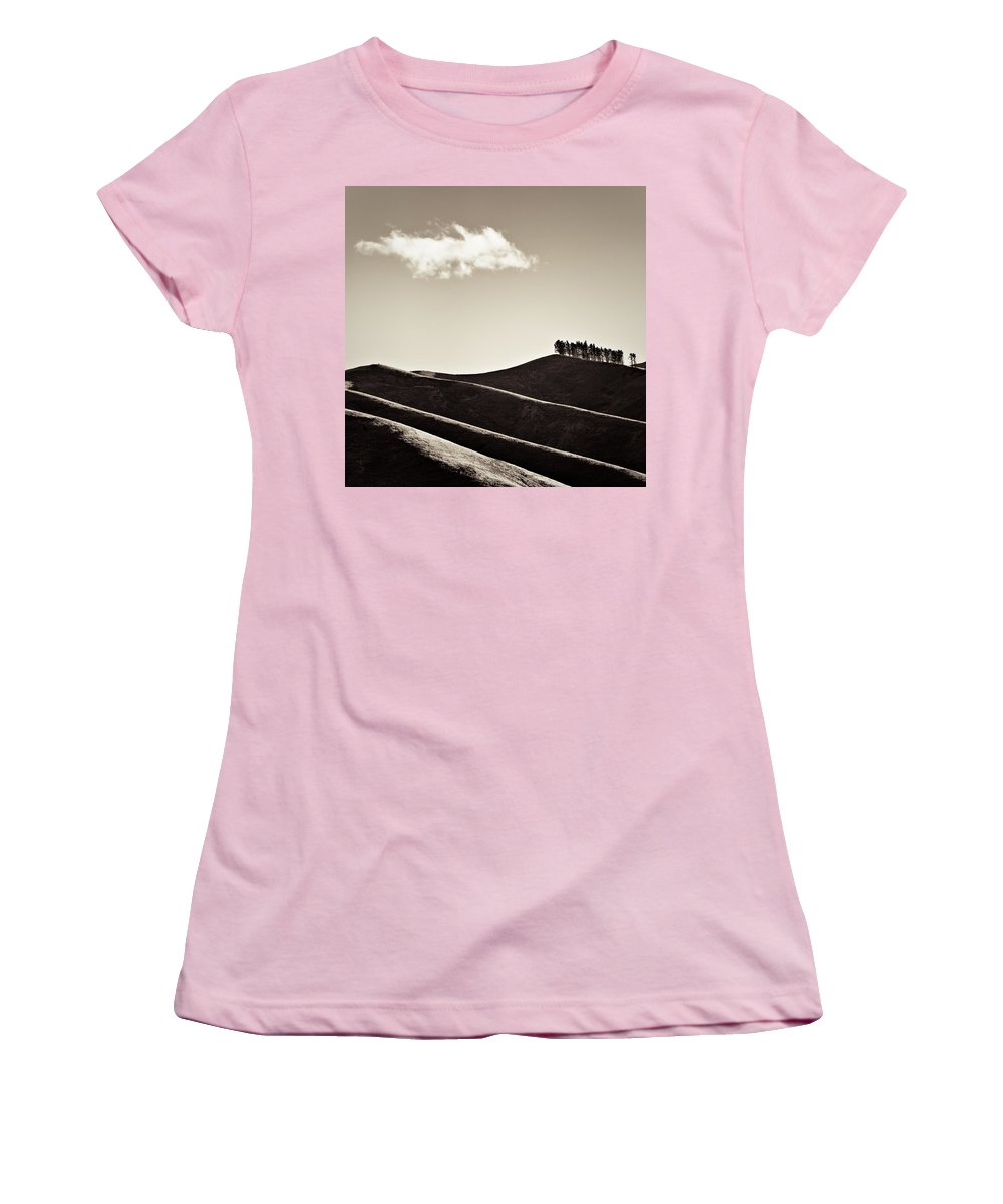 New Zealand Women's T-Shirt (Athletic Fit) featuring the photograph Solitary Cloud by Dave Bowman