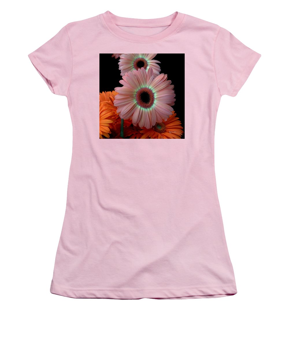 Gerberas Women's T-Shirt (Athletic Fit) featuring the photograph Third Place by RC deWinter