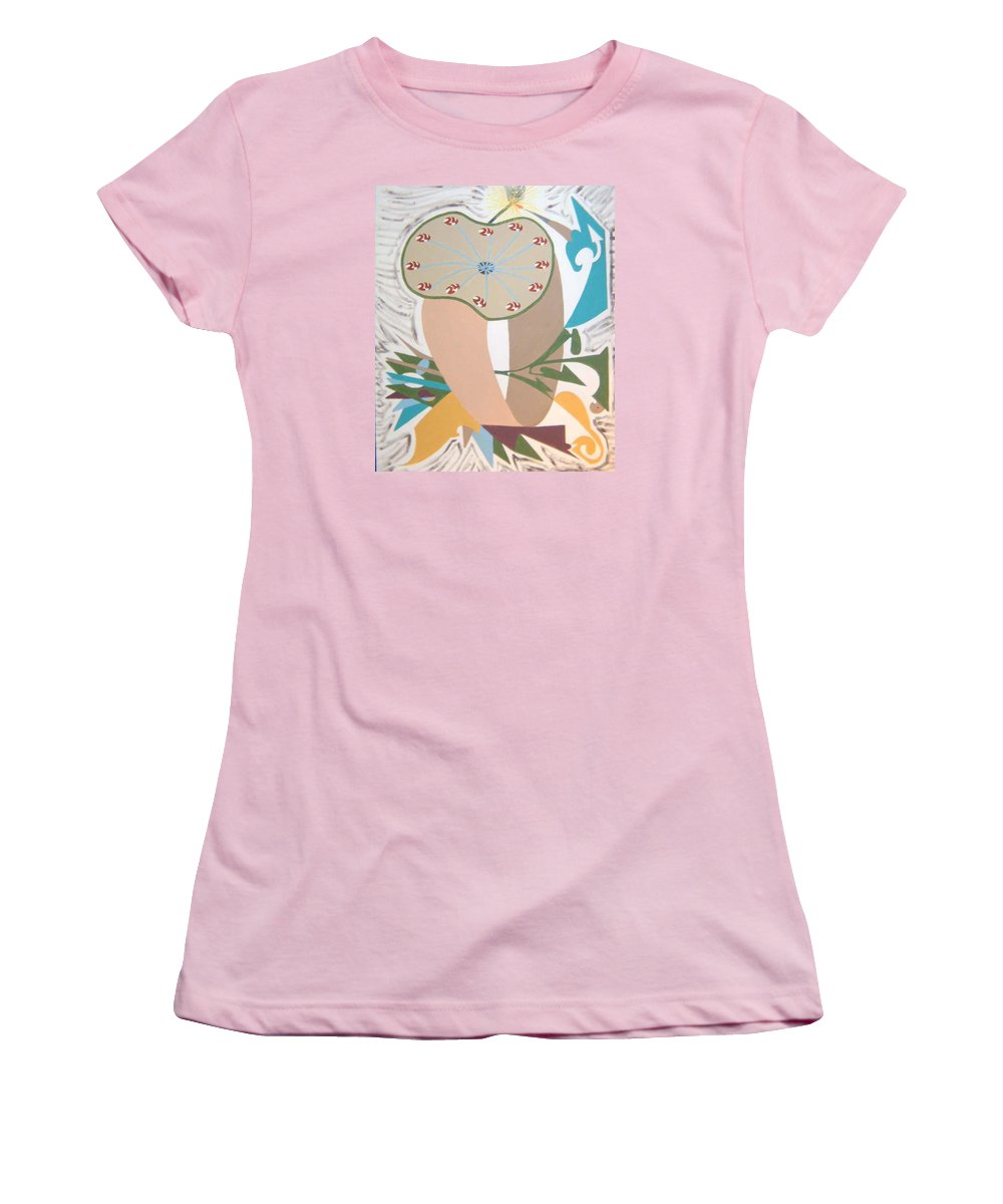 Abstract Women's T-Shirt (Athletic Fit) featuring the painting Times Up by Dean Stephens