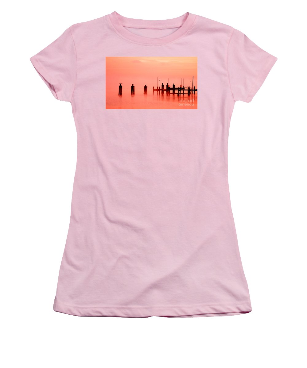 Clay Women's T-Shirt (Athletic Fit) featuring the photograph Eery Morn' by Clayton Bruster