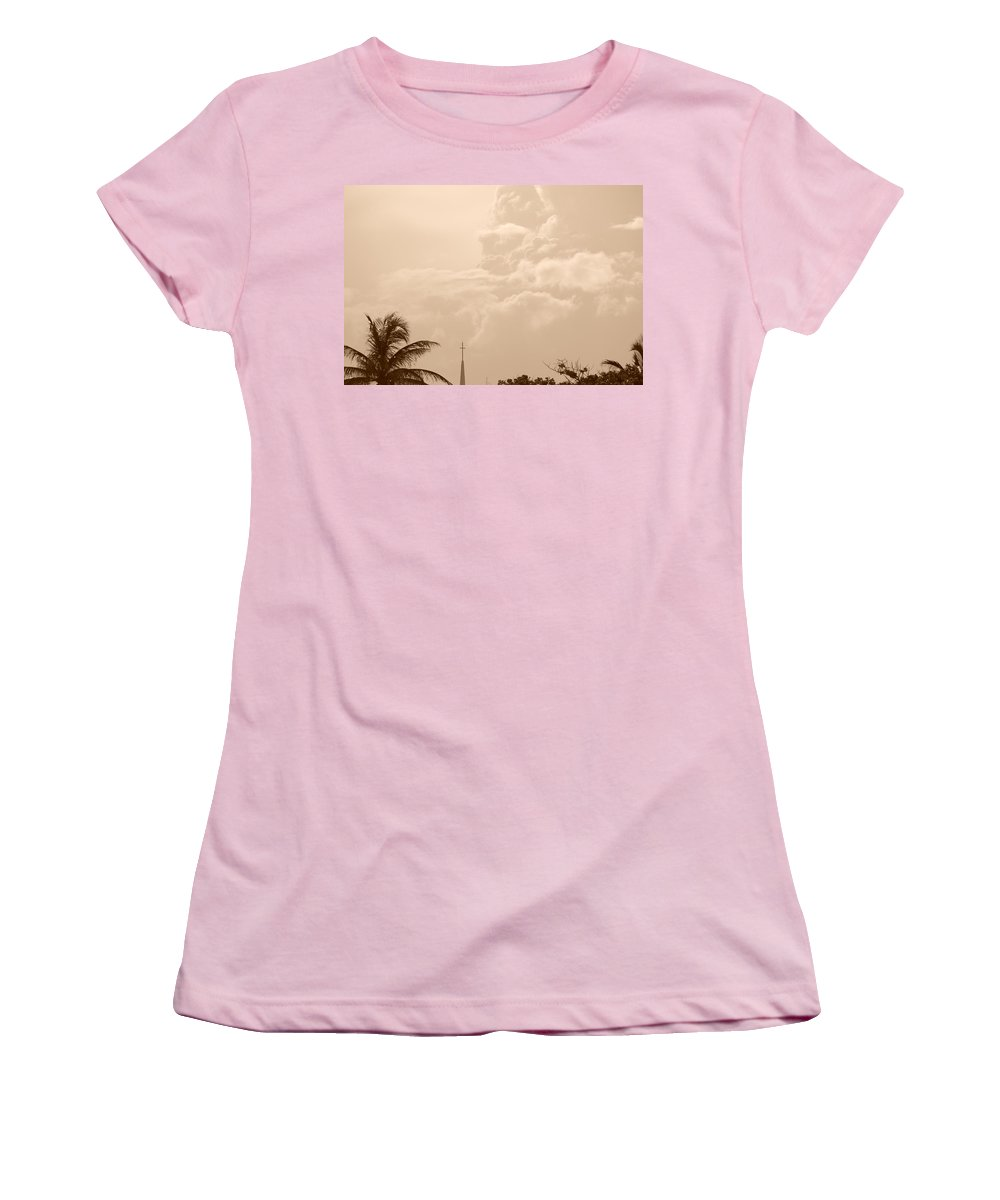 Sepia Women's T-Shirt (Athletic Fit) featuring the photograph Sepia Sky by Rob Hans