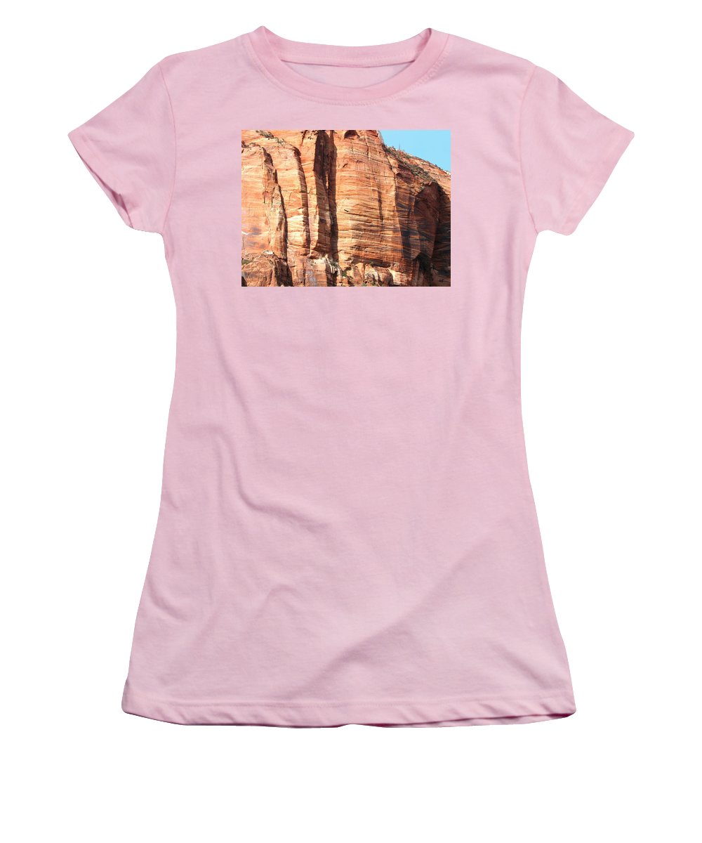 An Eagle Soars Women's T-Shirt (Athletic Fit) featuring the photograph An Eagle Soars by Will Borden