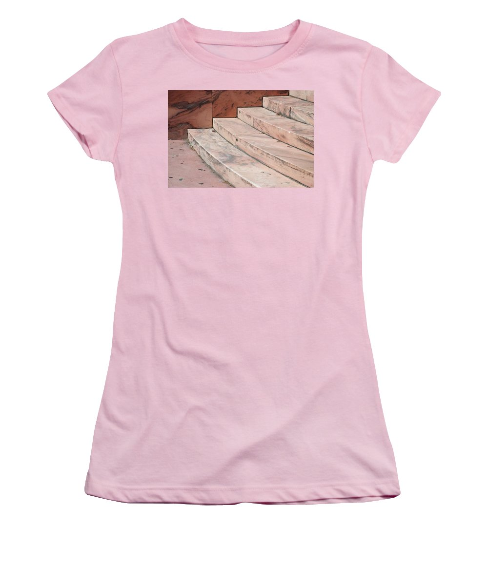 Architecture Women's T-Shirt (Athletic Fit) featuring the photograph Art Deco Steps by Rob Hans