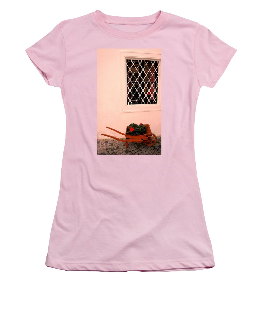 Vienna Women's T-Shirt (Athletic Fit) featuring the photograph At The Winery by Ian MacDonald