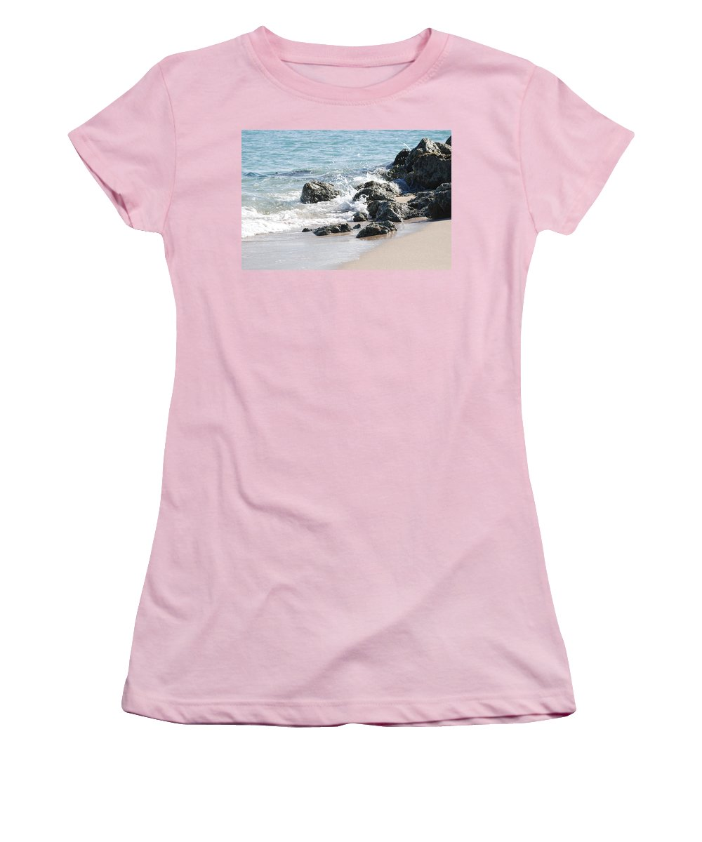 Scenic Women's T-Shirt (Athletic Fit) featuring the photograph Breakers by Rob Hans