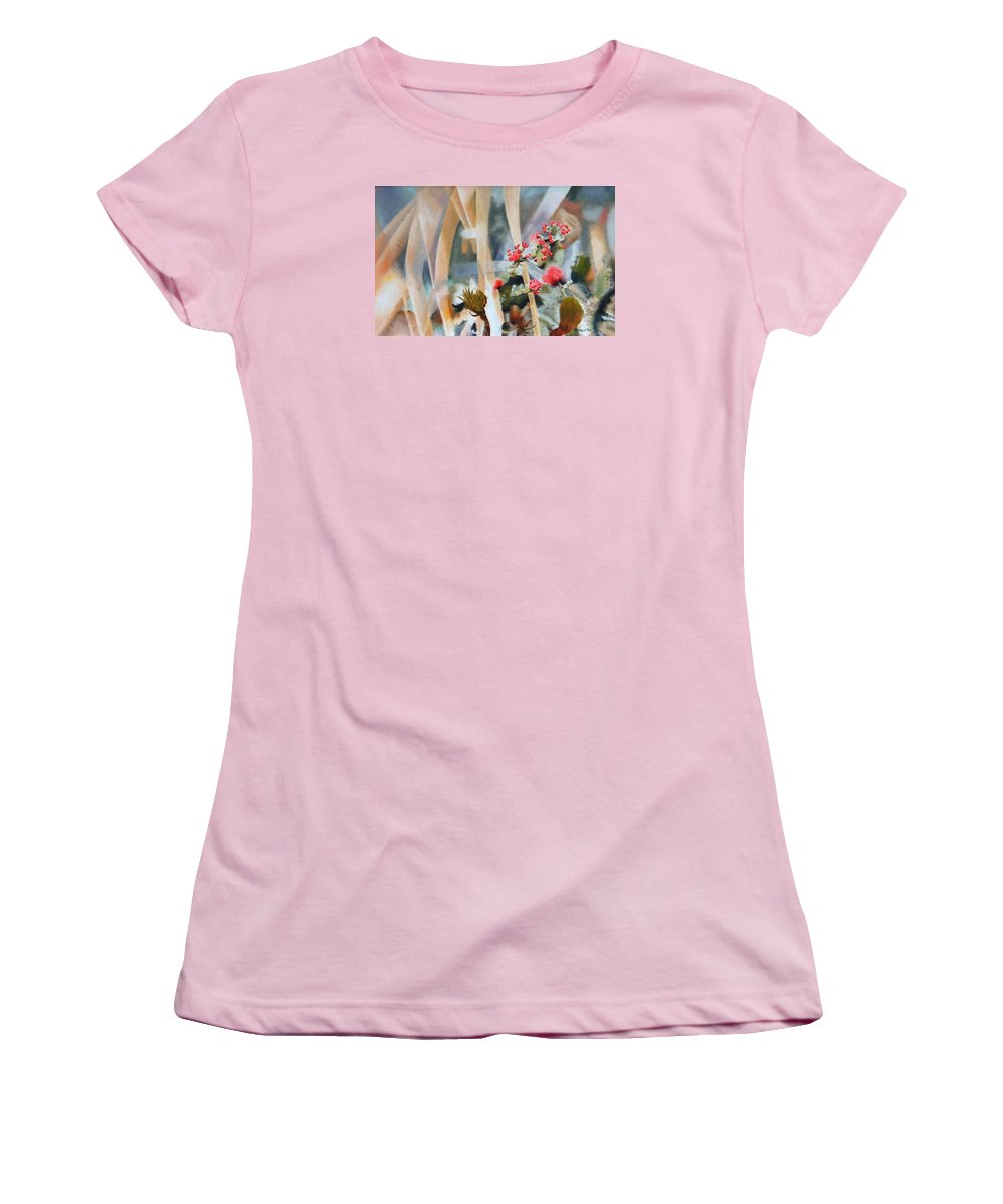 Nature Women's T-Shirt (Athletic Fit) featuring the painting British Soldiers by Dave Martsolf