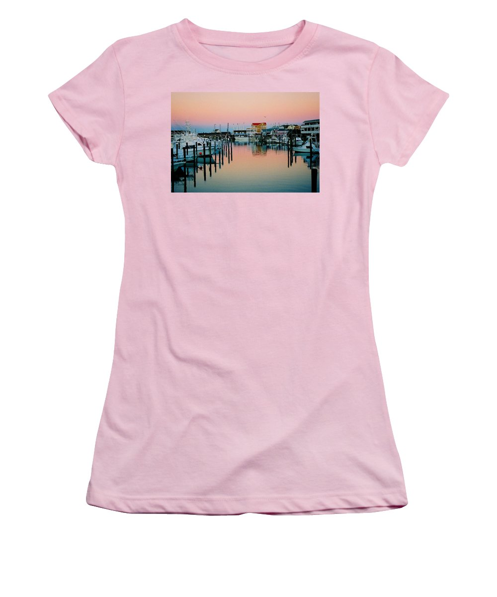 Cape May Women's T-Shirt (Athletic Fit) featuring the photograph Cape May After Glow by Steve Karol