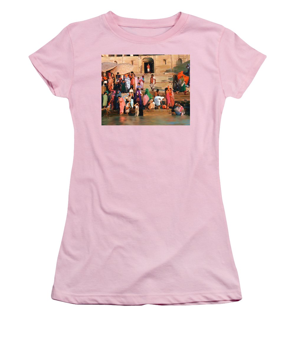 Ganges River Women's T-Shirt (Athletic Fit) featuring the photograph Ganges by Kurt Van Wagner