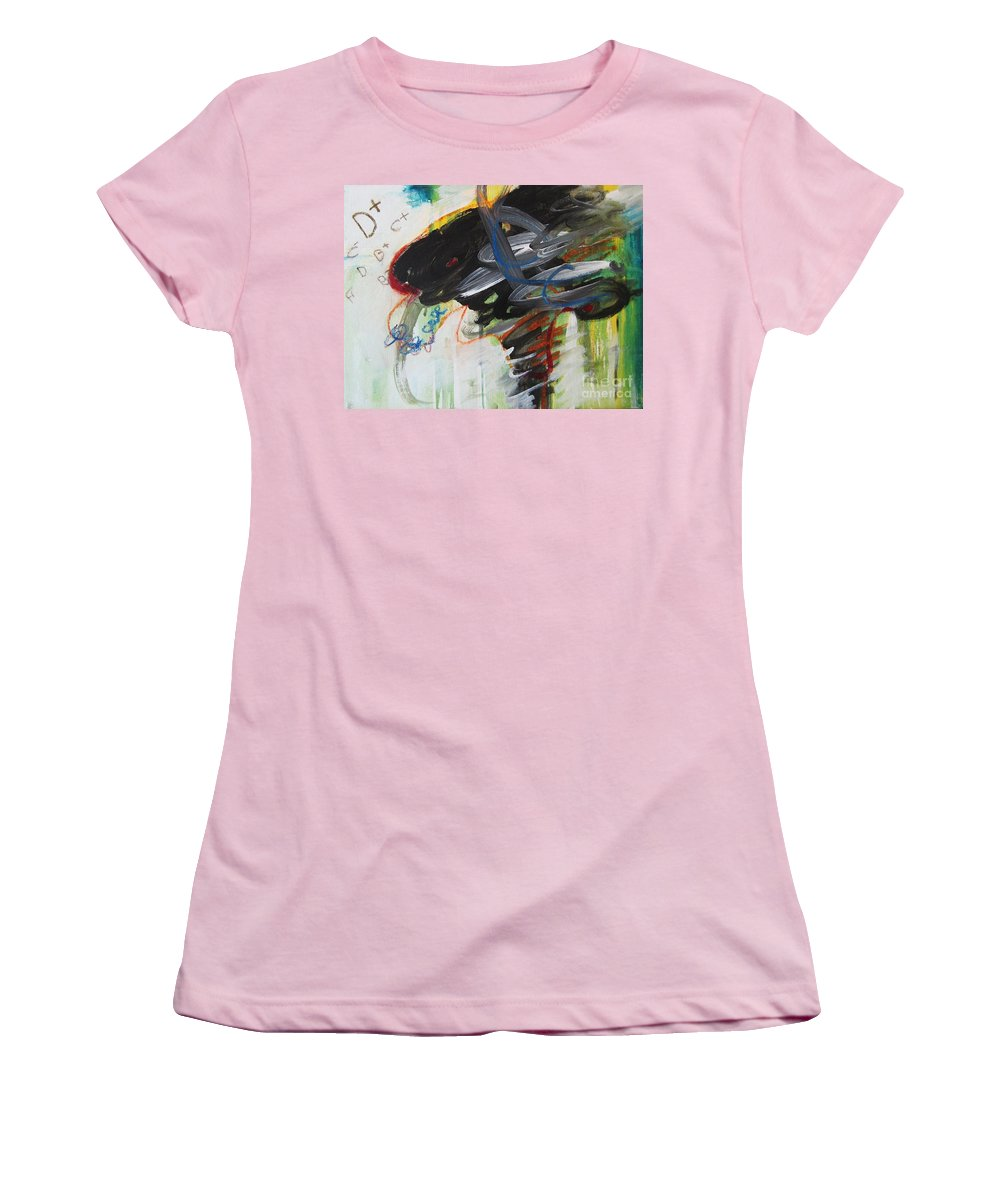Abstract Paintings Paintings Abstract Art Paintings Women's T-Shirt (Athletic Fit) featuring the painting I Got D by Seon-Jeong Kim