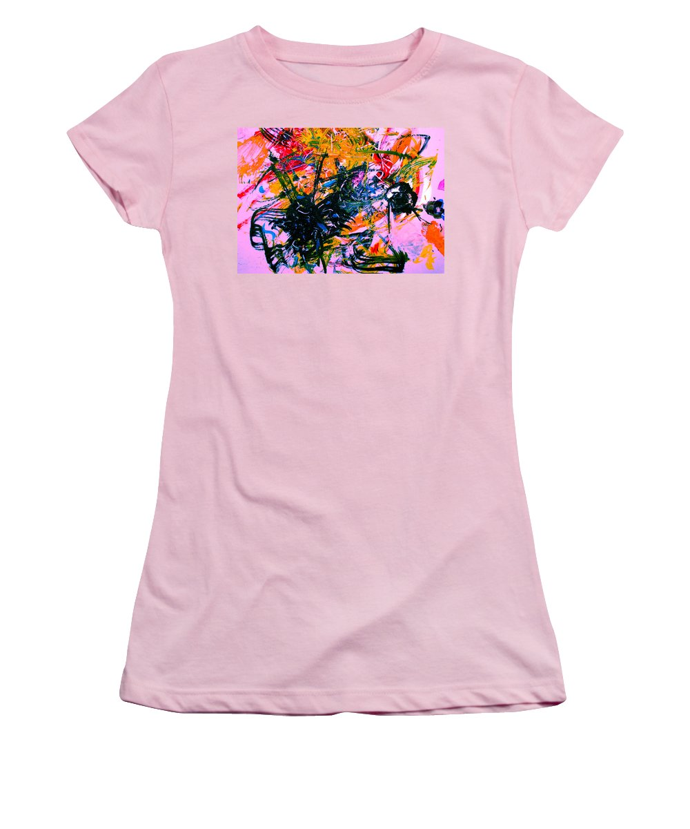 Abstract Women's T-Shirt (Athletic Fit) featuring the painting Intrigue by Natalie Holland