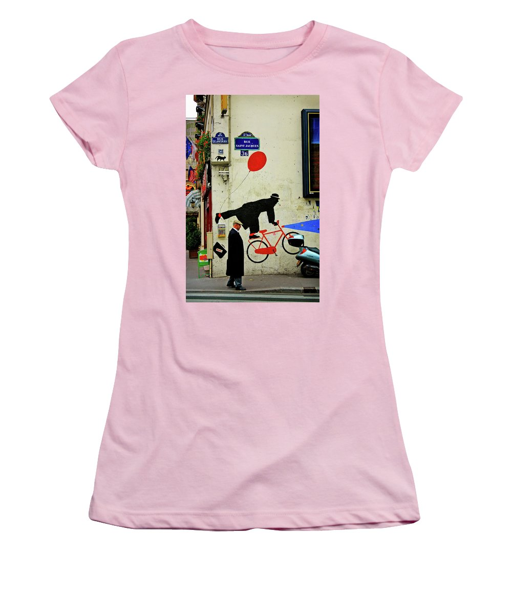Paris Women's T-Shirt (Athletic Fit) featuring the photograph Kick In The Head by Skip Hunt