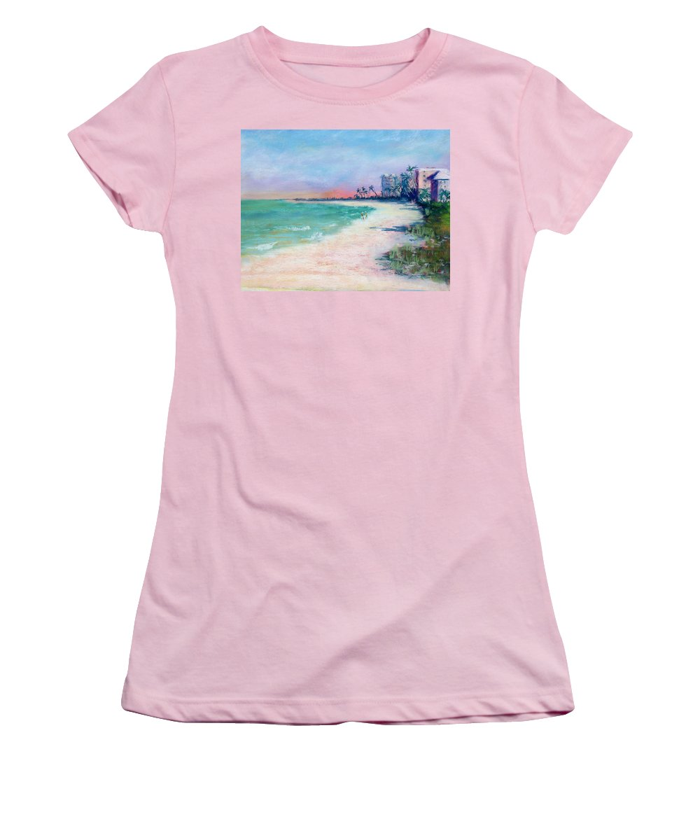 Lowdermilk Park Women's T-Shirt (Athletic Fit) featuring the painting Lowdermilk Park North by Laurie Paci