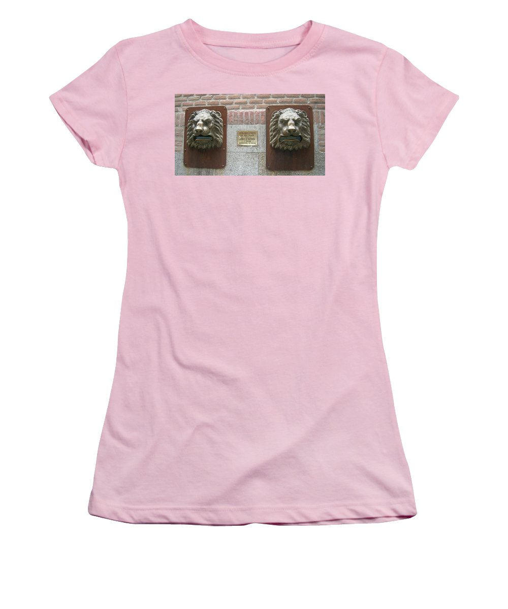 Mailbox Women's T-Shirt (Athletic Fit) featuring the photograph Mailboxes In Toledo Spain by Valerie Ornstein