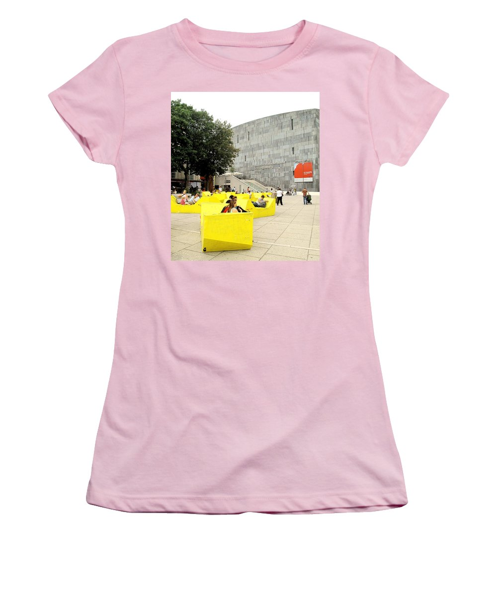 Museum Women's T-Shirt (Athletic Fit) featuring the photograph Museum Modener Kunst by Ian MacDonald