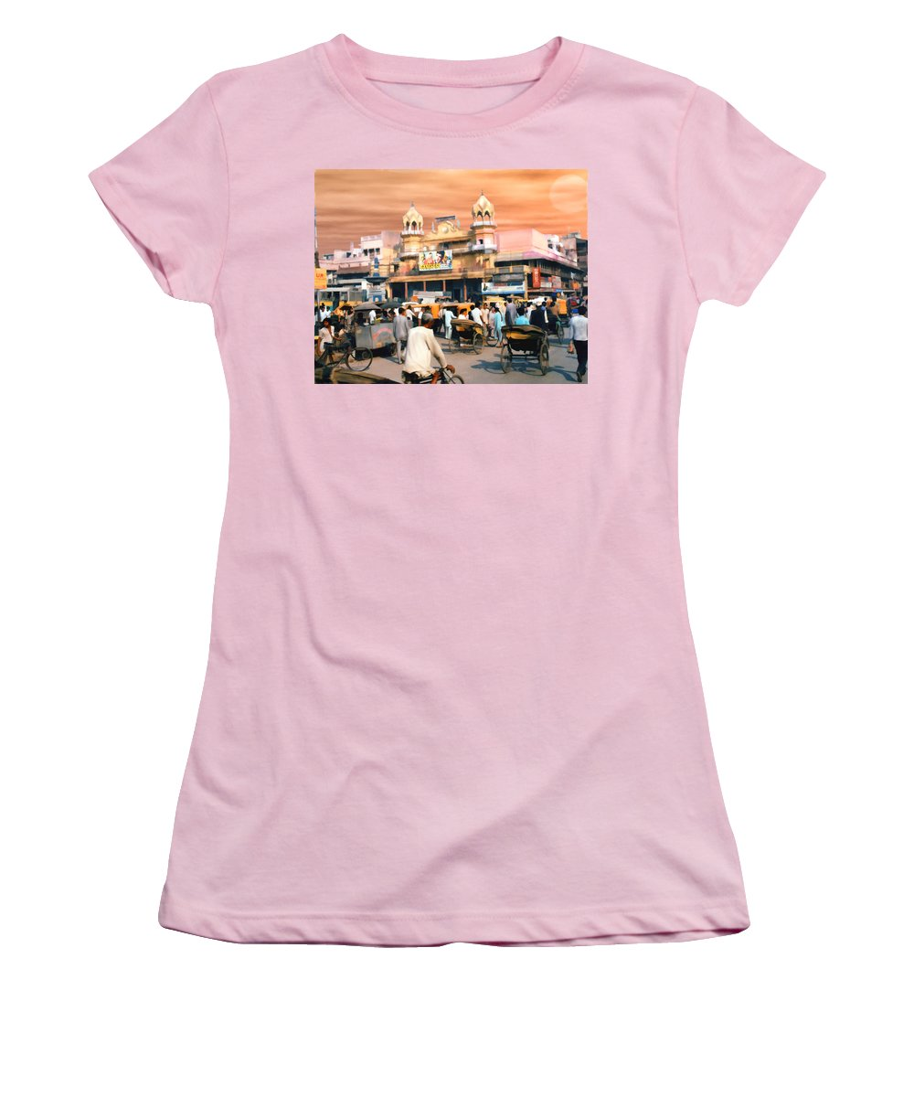 India Women's T-Shirt (Athletic Fit) featuring the photograph Old Dehli by Kurt Van Wagner