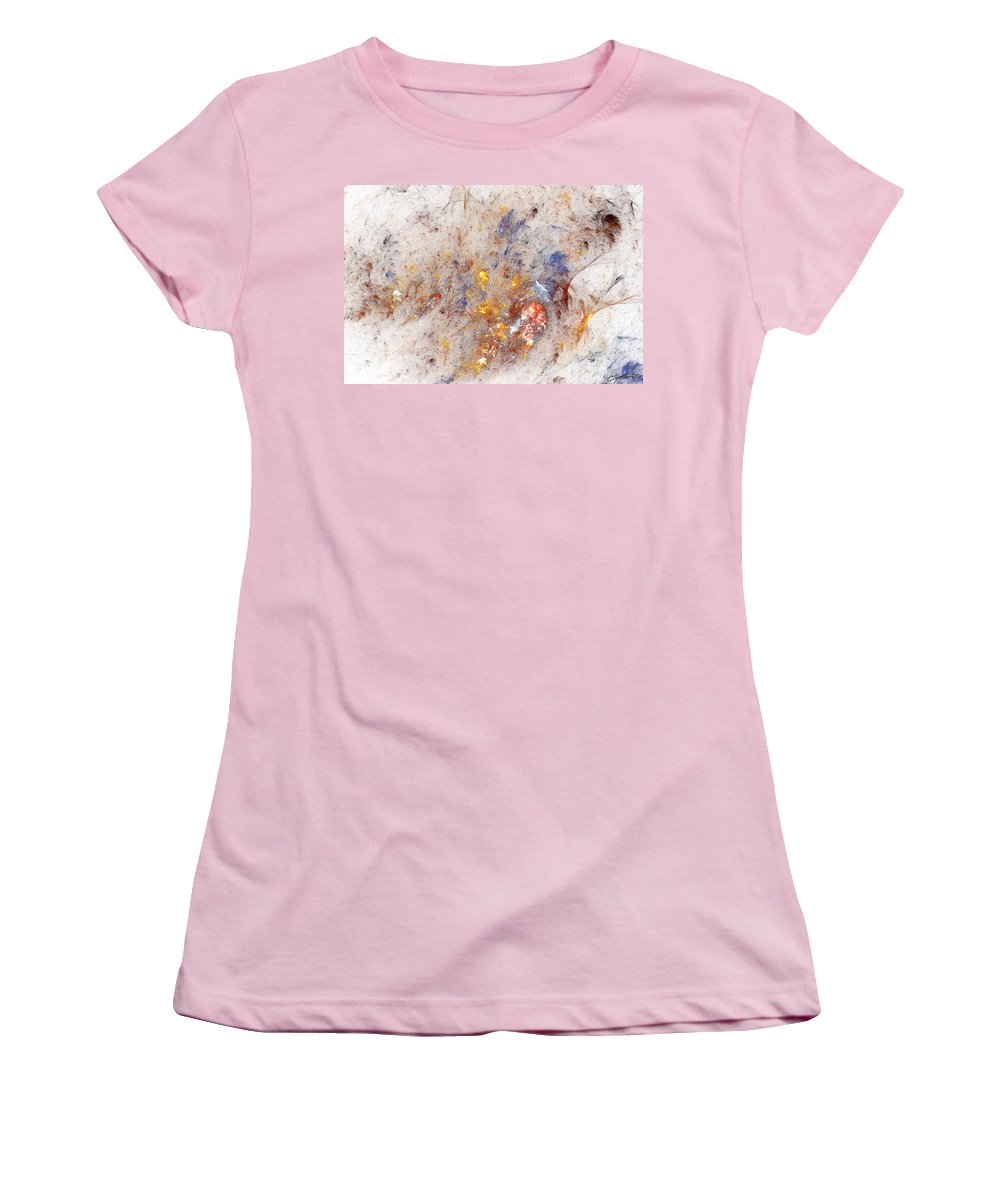 Abstract Women's T-Shirt (Athletic Fit) featuring the digital art Paean To Pollack by Casey Kotas