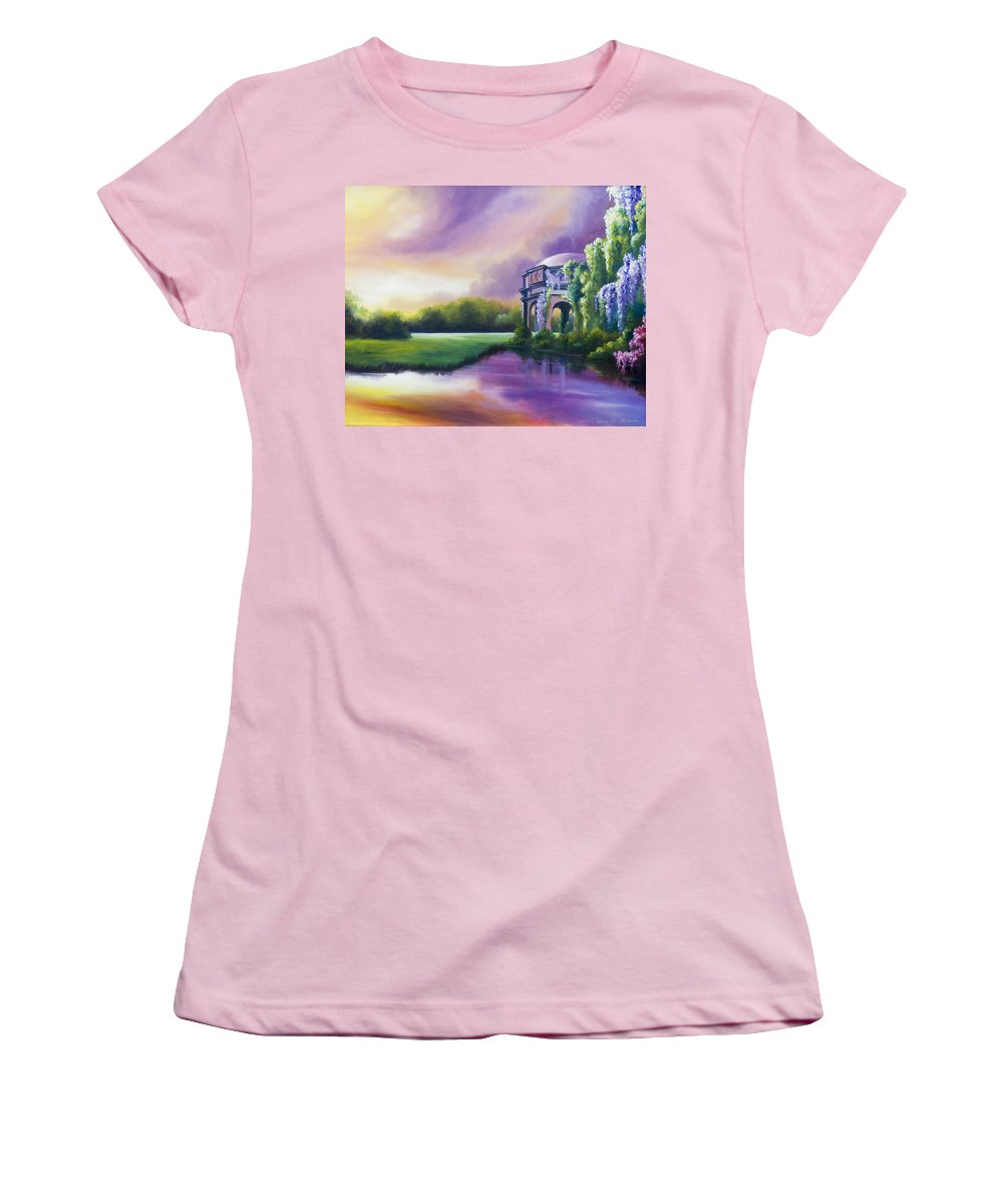 Marsh Women's T-Shirt (Athletic Fit) featuring the painting Palace Of The Arts by James Christopher Hill