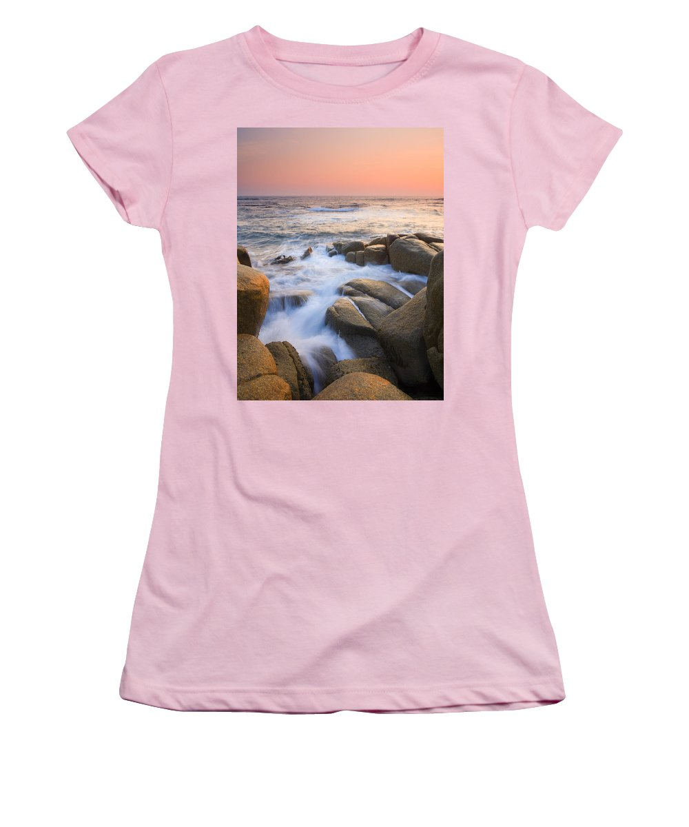 Sunrise Women's T-Shirt (Athletic Fit) featuring the photograph Red Sky At Morning by Mike Dawson