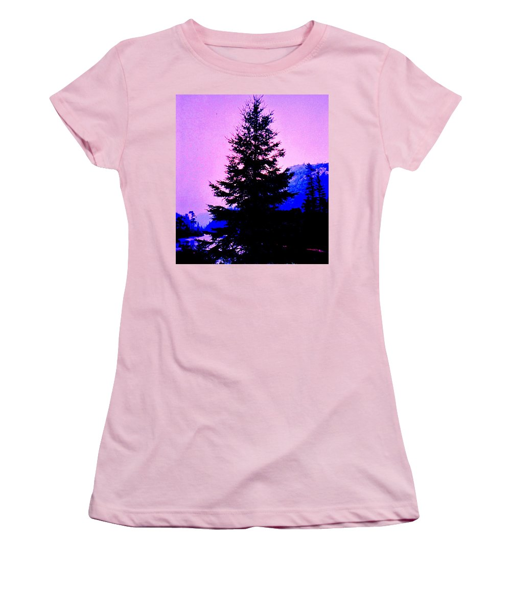 Agawa Women's T-Shirt (Athletic Fit) featuring the photograph Shadows In The Canyon by Ian MacDonald
