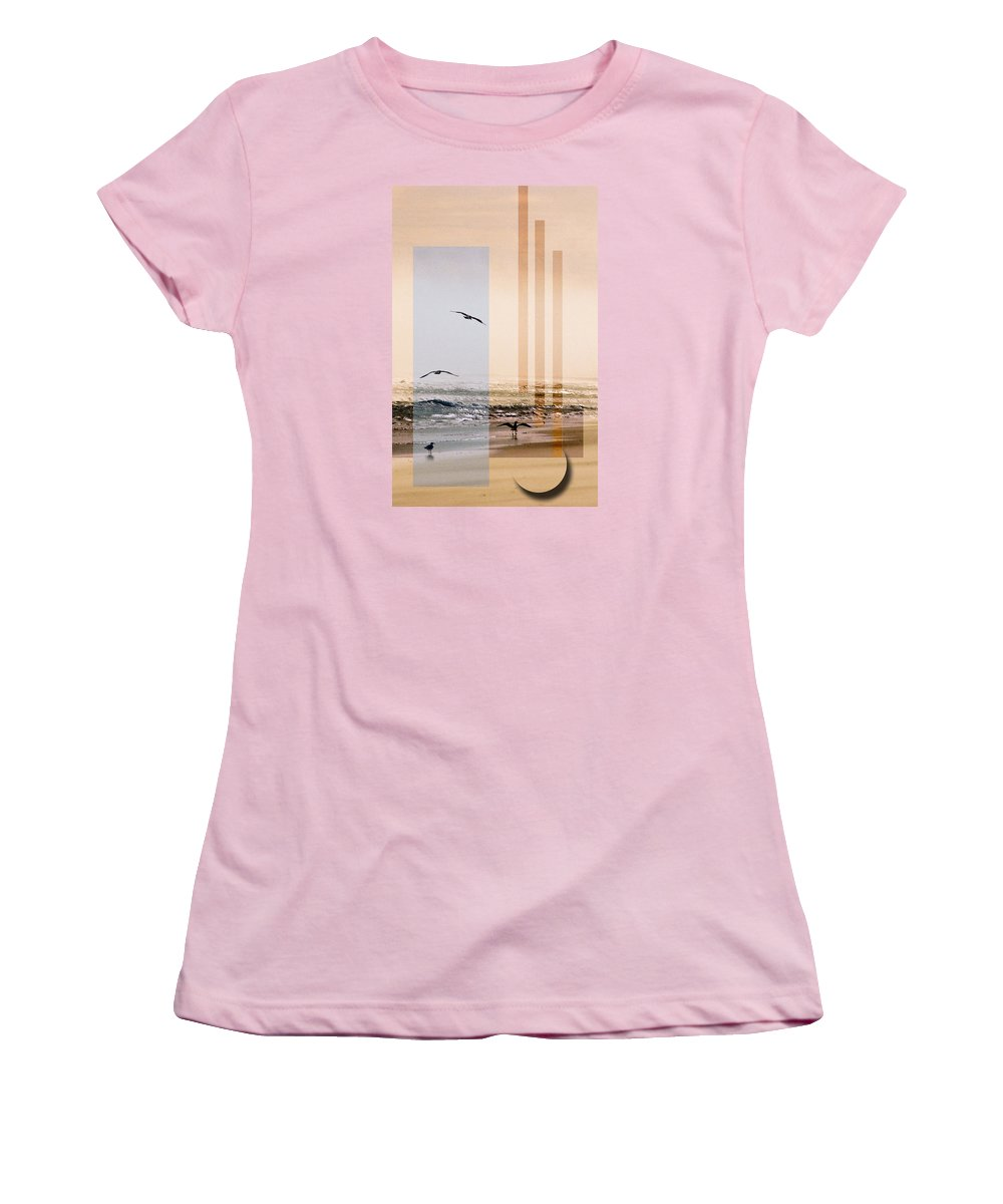 Abstract Women's T-Shirt (Athletic Fit) featuring the photograph Shore Collage by Steve Karol
