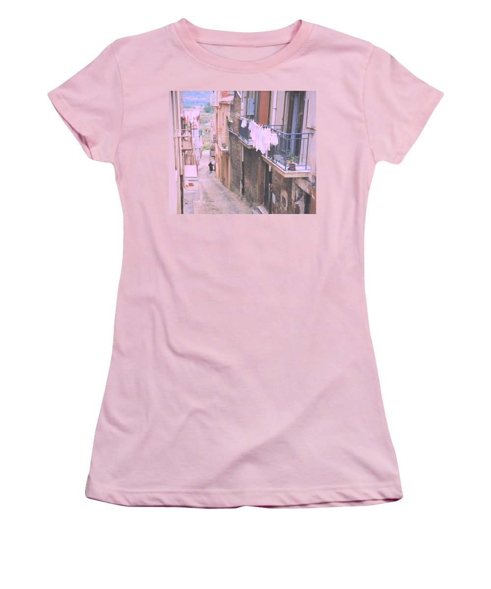 Sicily Women's T-Shirt (Athletic Fit) featuring the photograph Sicily by Ian MacDonald