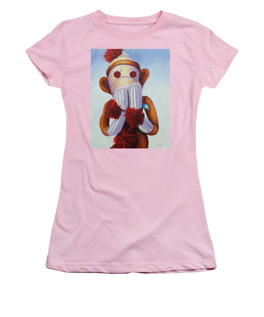 Children Women's T-Shirt (Athletic Fit) featuring the painting Speak No Bad Stuff by Shannon Grissom