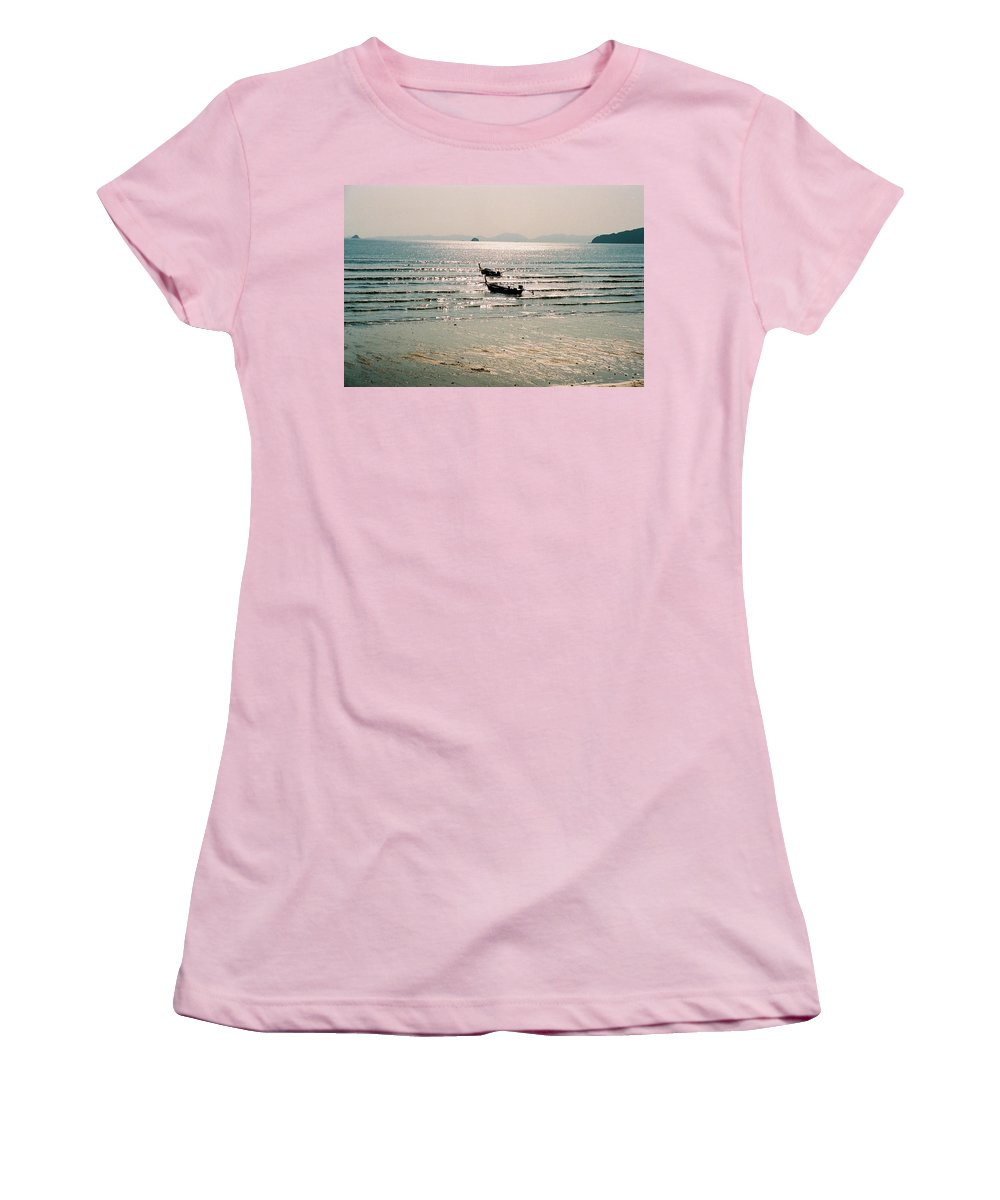 Sea Women's T-Shirt (Athletic Fit) featuring the photograph Sunset At Krabi by Mary Rogers