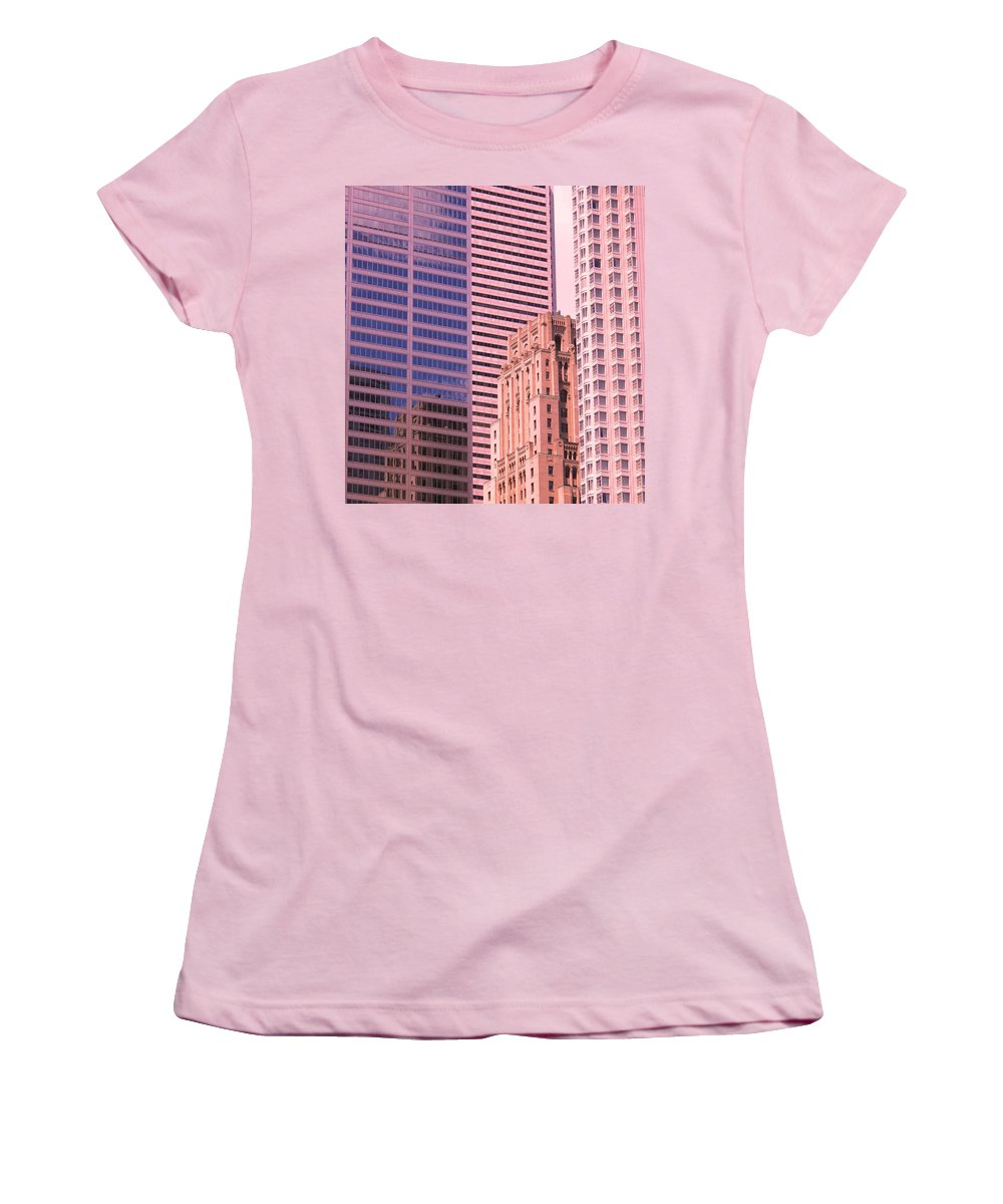 Office Buildings Women's T-Shirt (Athletic Fit) featuring the photograph Surrounded by Ian MacDonald
