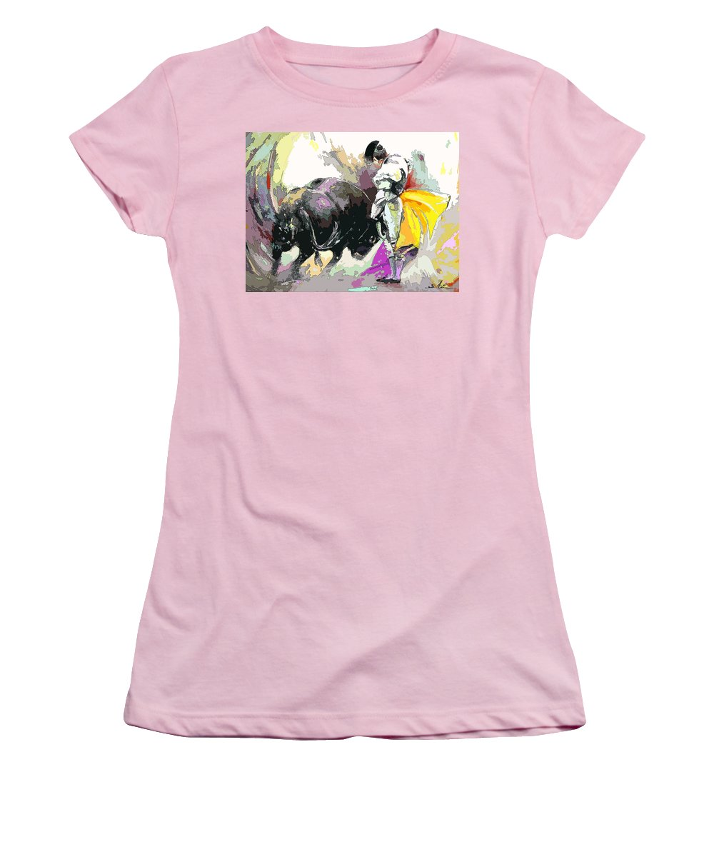 Animals Women's T-Shirt (Athletic Fit) featuring the painting Toroscape 39 by Miki De Goodaboom