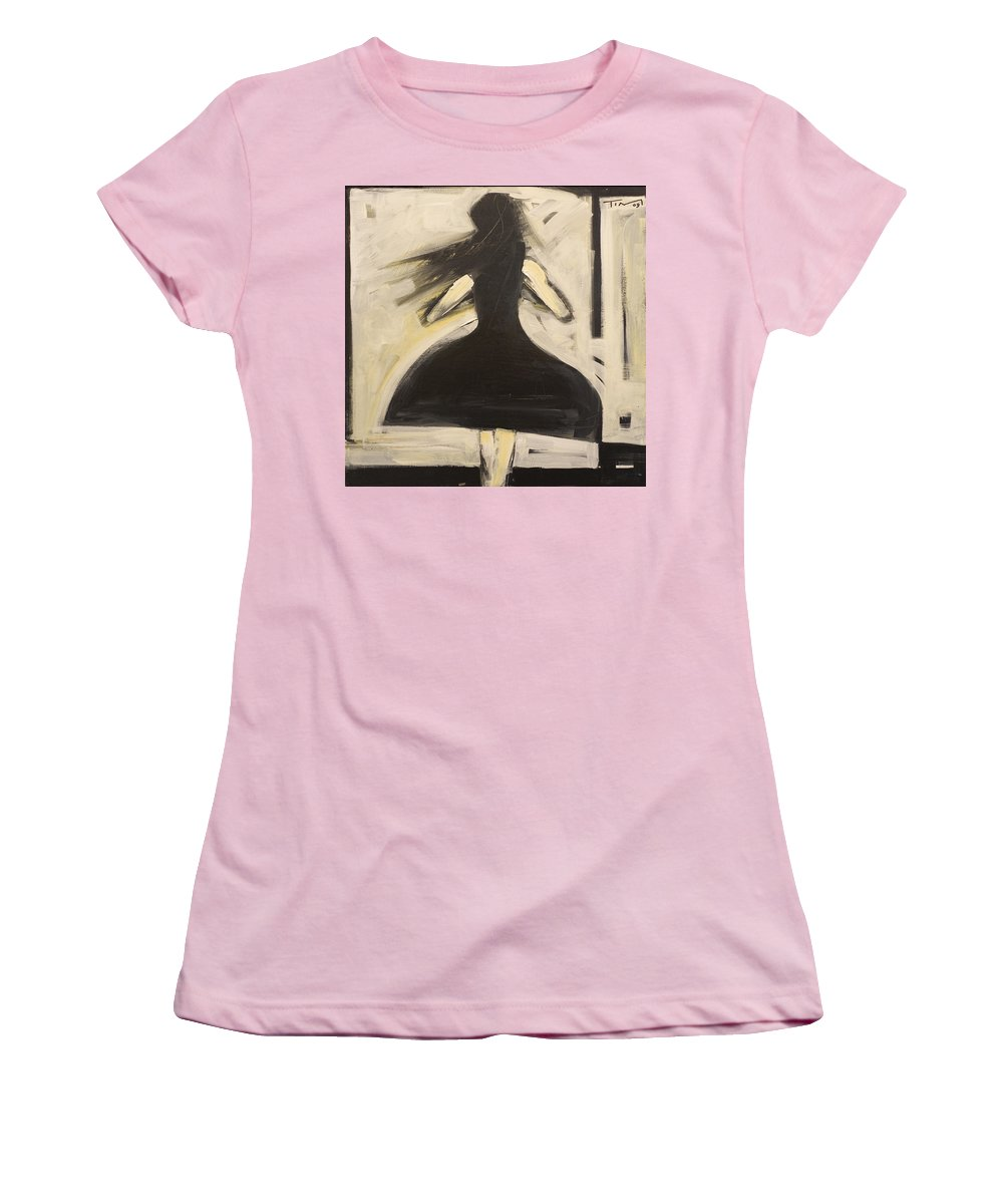Twirl Women's T-Shirt (Athletic Fit) featuring the painting Twirling by Tim Nyberg
