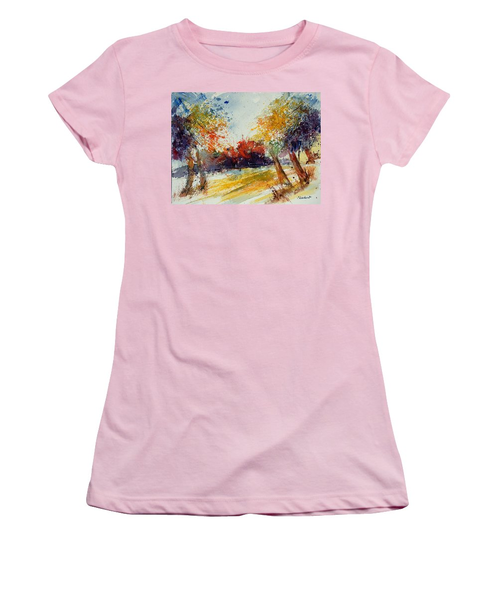 Tree Women's T-Shirt (Athletic Fit) featuring the painting Watercolor 902010 by Pol Ledent