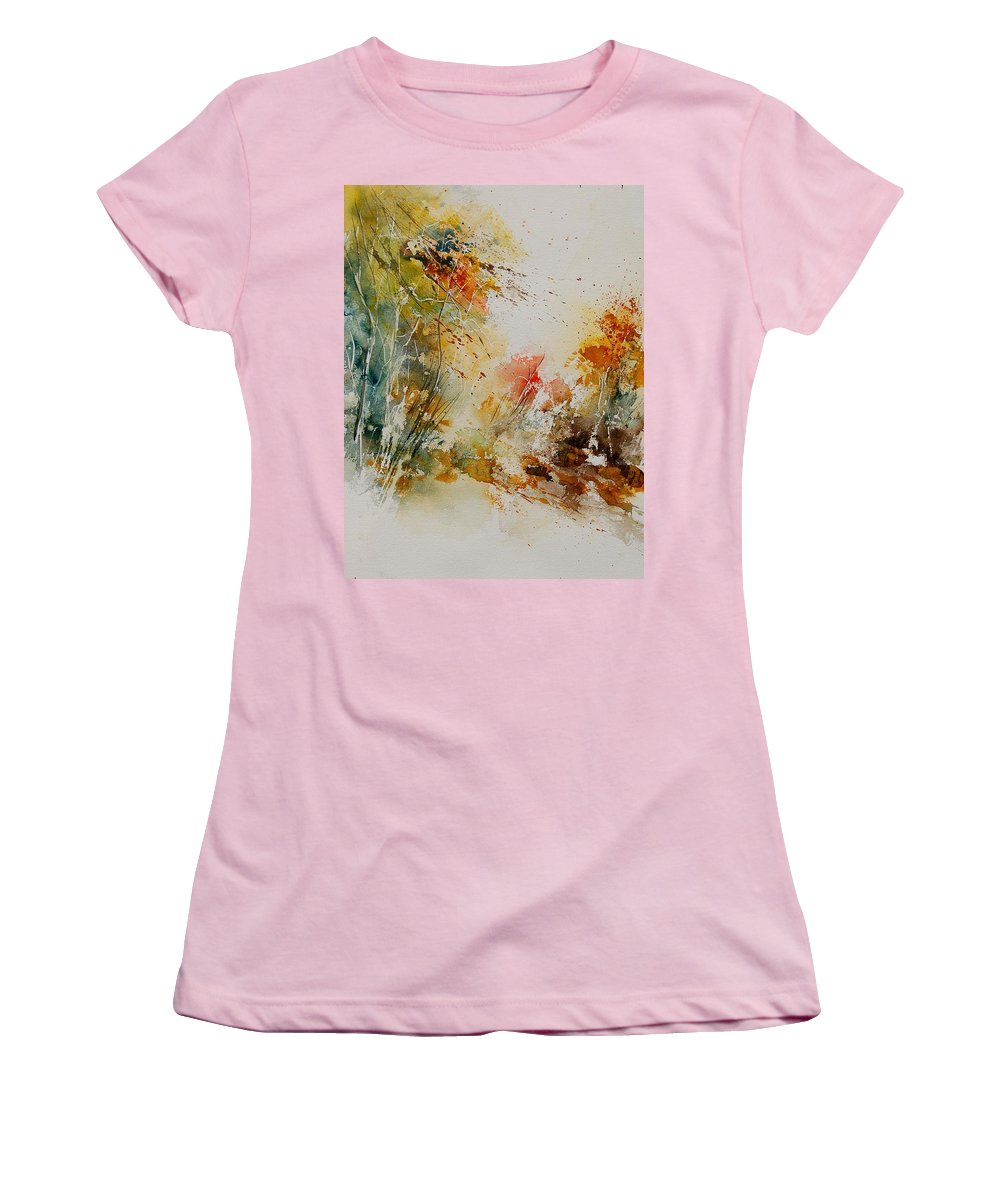 Tree Women's T-Shirt (Athletic Fit) featuring the painting Watercolor 905022 by Pol Ledent