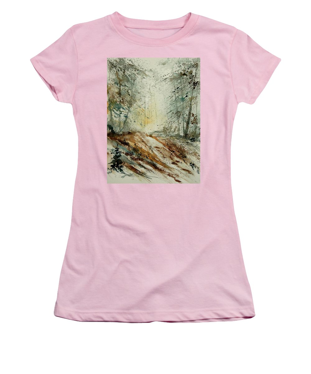 River Women's T-Shirt (Athletic Fit) featuring the painting Watercolor 907013 by Pol Ledent