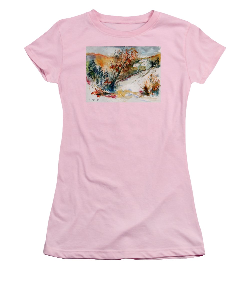 Tree Women's T-Shirt (Athletic Fit) featuring the painting Watercolor 908002 by Pol Ledent