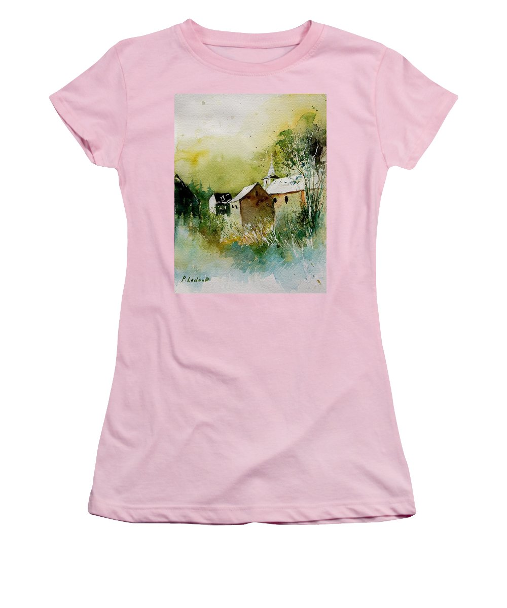 Landscape Women's T-Shirt (Athletic Fit) featuring the painting Watercolor Sosoye by Pol Ledent