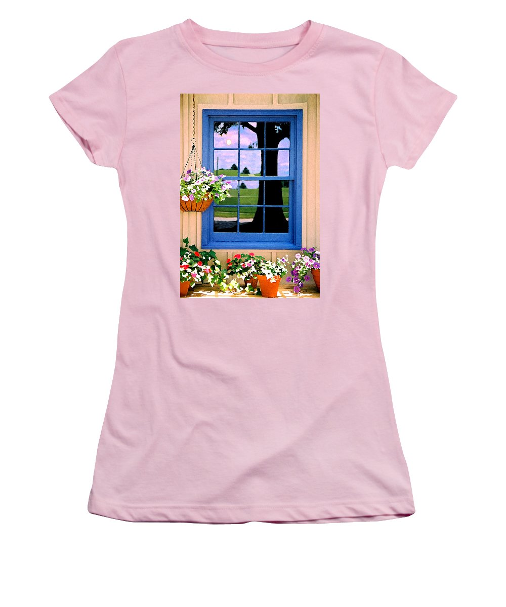 Still Life Women's T-Shirt (Athletic Fit) featuring the photograph Window by Steve Karol