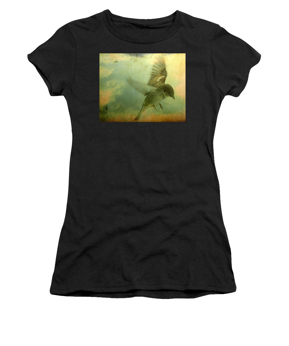Bird Women's T-Shirt (Athletic Fit) featuring the digital art Amelia's Heart by Gothicrow Images