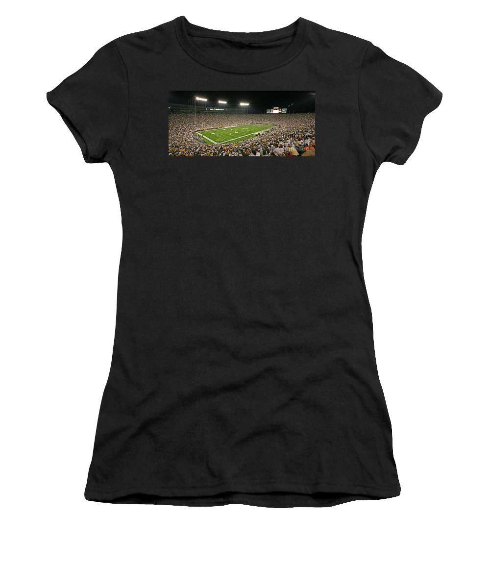 Green Women's T-Shirt (Athletic Fit) featuring the photograph 0609 Lambeau Field by Steve Sturgill