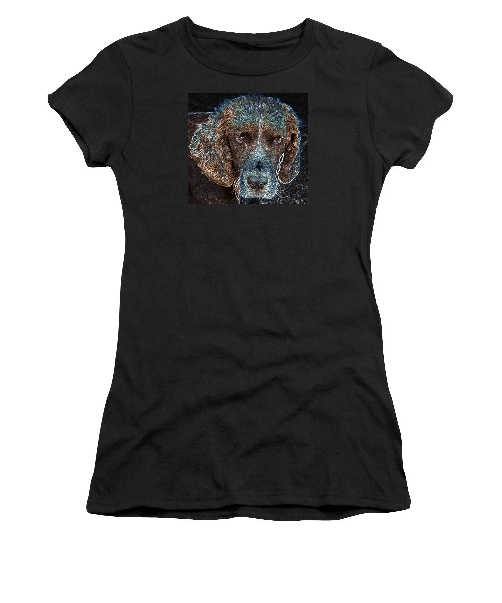 Macro Women's T-Shirt featuring the photograph Old Blue Eyes by Dave Byrne