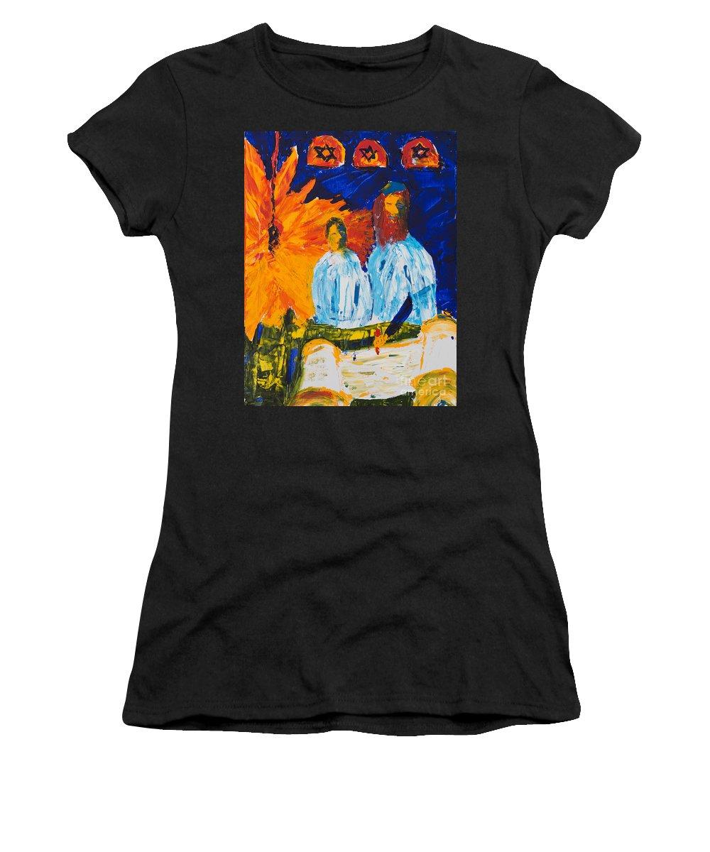 Jewish Art Women's T-Shirt featuring the painting Bar Mitzvah by Walt Brodis