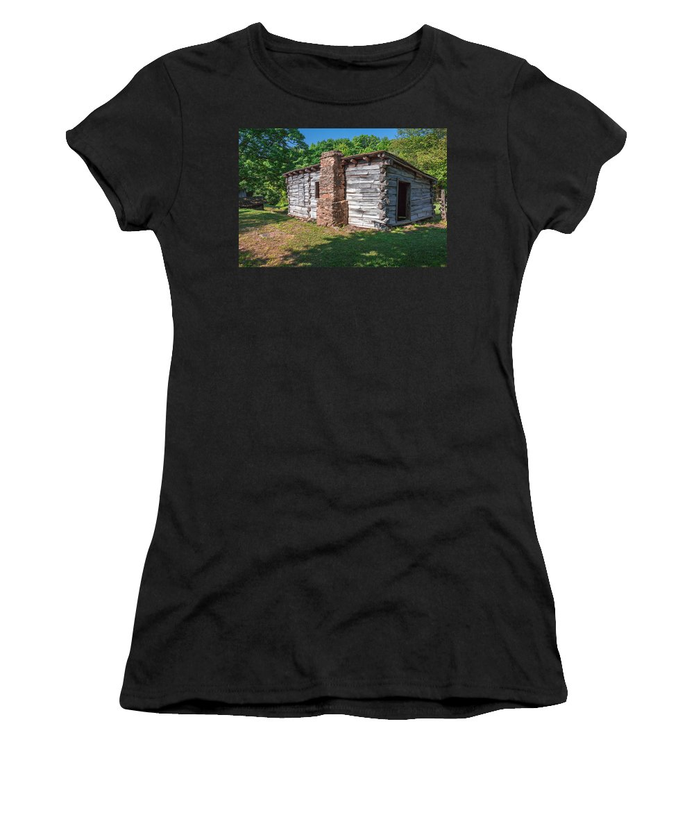 Cumberland Gap National Historical Park Women's T-Shirt (Athletic Fit) featuring the photograph Blacksmith Shop by Mary Almond
