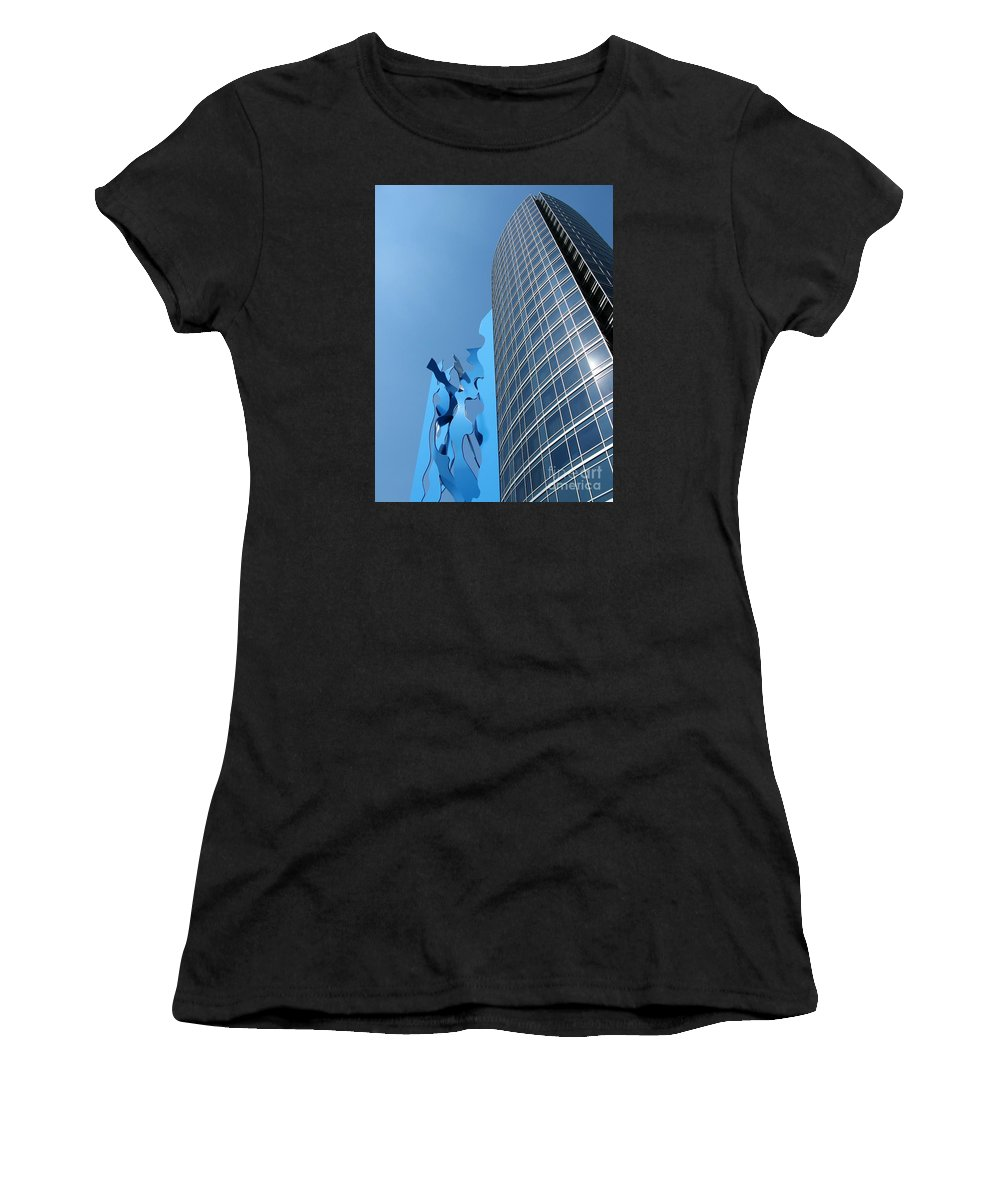 Art Women's T-Shirt (Athletic Fit) featuring the photograph Blues by Ann Horn