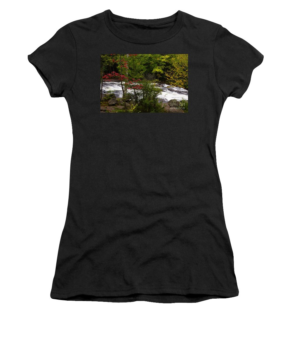 Rivers Women's T-Shirt (Athletic Fit) featuring the photograph Bog River by Jeffery L Bowers