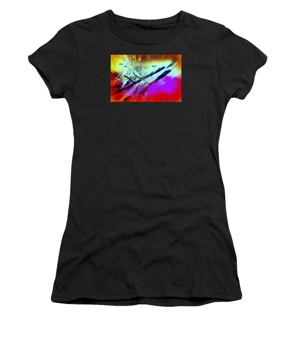 Tree Women's T-Shirt (Athletic Fit) featuring the photograph Can You Feel My Love Or Is It Wasted On You by Hilde Widerberg