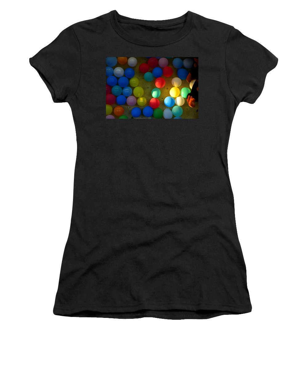 Carnival Balloons Women's T-Shirt featuring the photograph Carnival Balloons by David Lee Thompson
