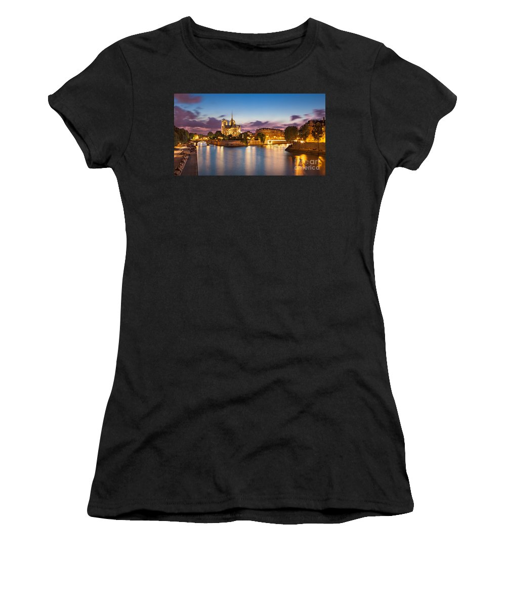Notre Dame Women's T-Shirt (Athletic Fit) featuring the photograph Cathedral Notre Dame by Brian Jannsen