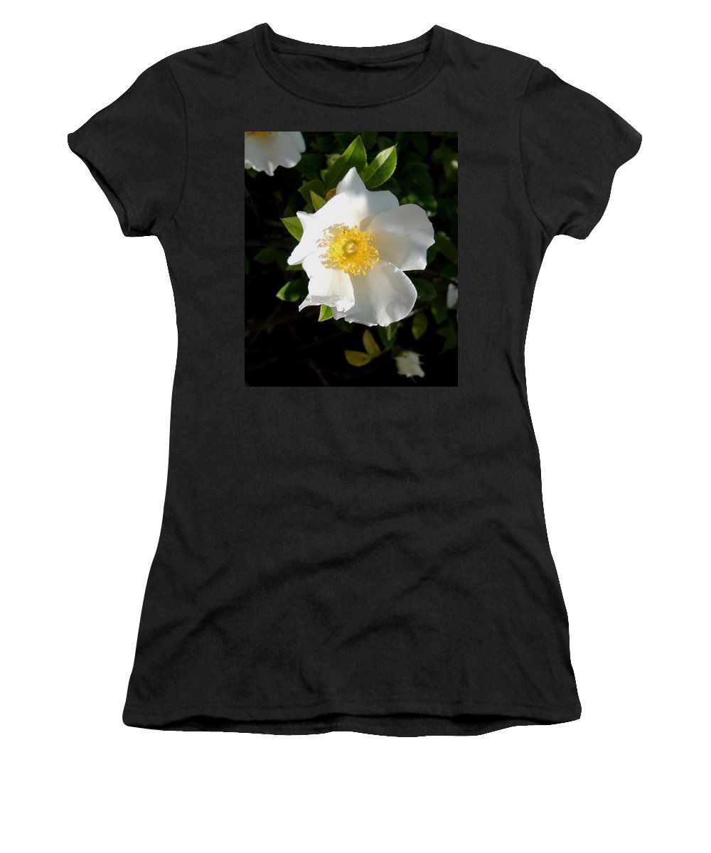 Digital Photography Women's T-Shirt (Athletic Fit) featuring the photograph Cherokee Rose by Kim Pate