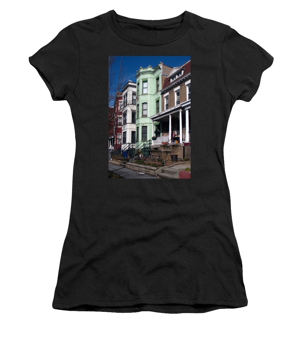 Ancient Women's T-Shirt (Athletic Fit) featuring the photograph Classic American Architecture In Washington Dc by Alex Grichenko