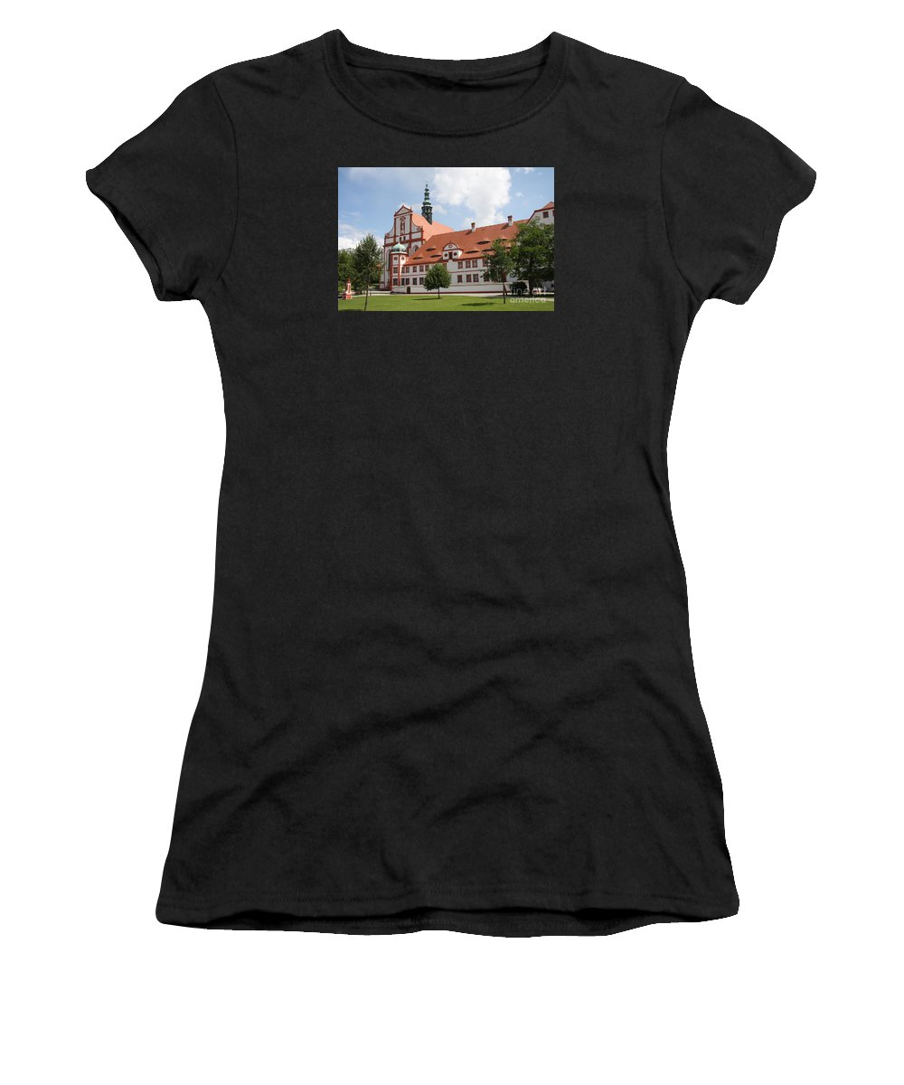 Cloister Women's T-Shirt (Athletic Fit) featuring the photograph Cloister St. Marienstern by Christiane Schulze Art And Photography