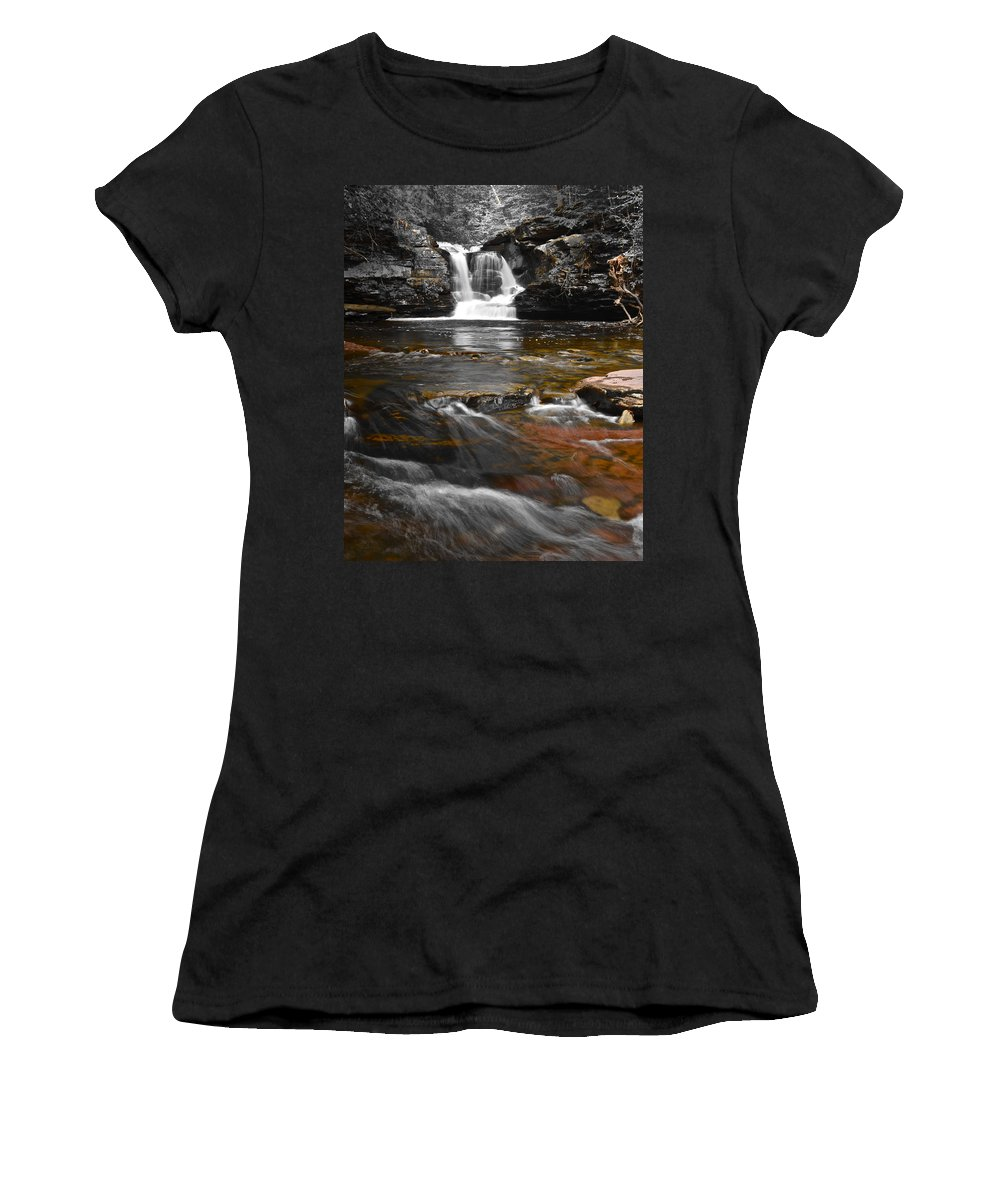 Color Women's T-Shirt (Athletic Fit) featuring the photograph Coming To Life by Frozen in Time Fine Art Photography